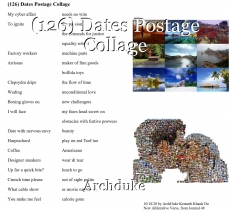(126) Dates Postage Collage