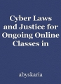 Cyber Laws and Justice for Ongoing Online Classes in Kerala