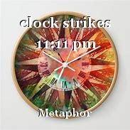clock strikes 11:11 pm