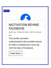 MOTIVATION BEHIND FACEBOOK
