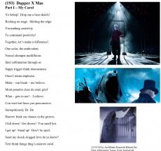 (193)  Dapper X Mas - Part I:  My Carol