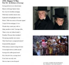 (193)  Dapper X Mas - Part XI:  In Defense of Scrooge