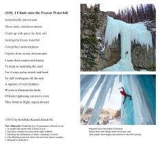 (218)  I Climb onto the Frozen Waterfall