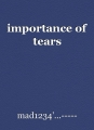 importance of tears