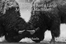 Is the Internet Just a Large Argument Machine?