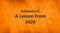 A Lesson From 2020