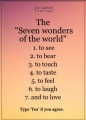 Seven Wonders of Our World