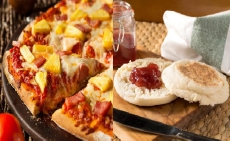 Pizza, Ham, and Muffins