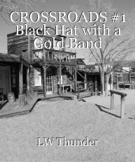 CROSSROADS #1 Black Hat with a Gold Band
