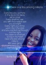 Dear one star among millions