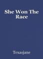She Won The Race