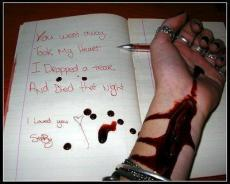 reading the blood upon the page