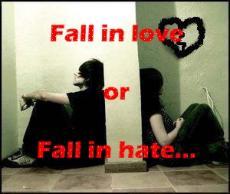 Fall in love or fall in hate...