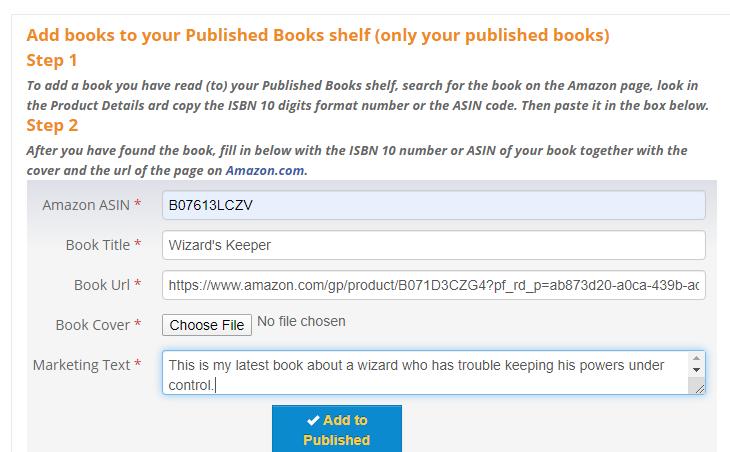 Add books to Bookshelf