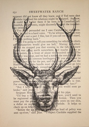 book,crowbiz,drawing,head,stag,text-0555