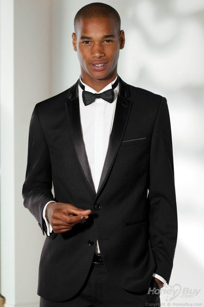 Notch_Lapel_Two_Buttons_Black_Men_Suits_