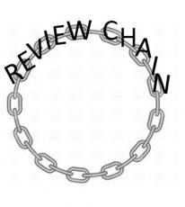 Cover of publishing house Review Chain